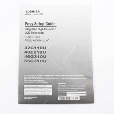 Toshiba 75024950 Manual Easy Setup